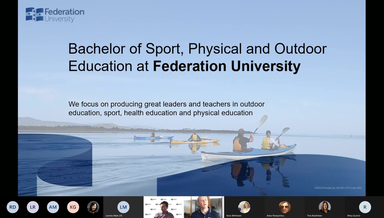 Sport, PE and Outdoor Education Information Session