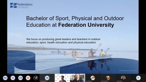 Thumbnail for entry Sport, PE and Outdoor Education Information Session