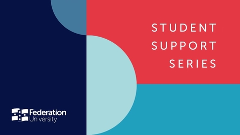 Thumbnail for entry Student Support Series - Introduction