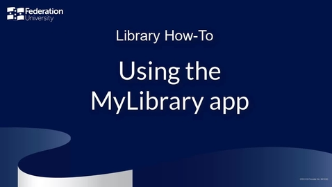 Thumbnail for entry Using the MyLibrary app