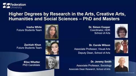 Thumbnail for entry Domestic Webinar- HDR Arts, Creative Arts and Social Sciences.mp4