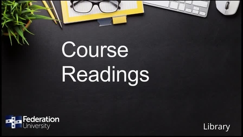 Thumbnail for entry Intro to Course Readings