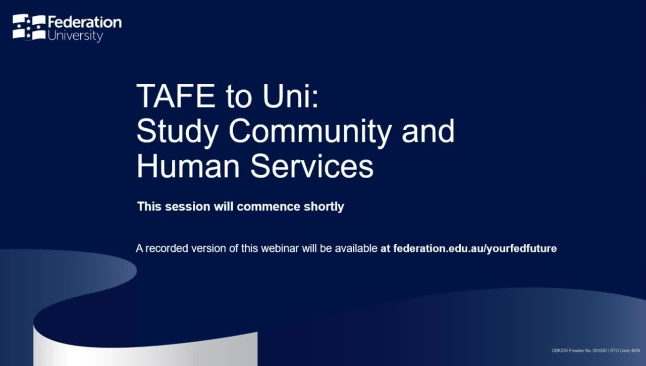 TAFE to Uni - Study Community and Human Services