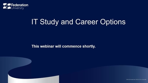 Thumbnail for entry IT Study and Career Options