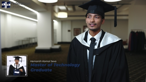 Thumbnail for entry Hemanth's story - Master of Technology graduate
