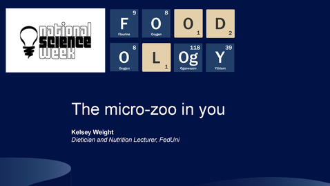 Thumbnail for entry FOODOLOgY The micro-zoo in you