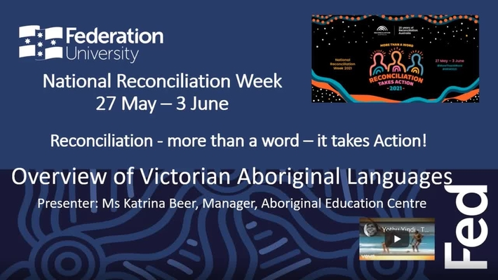 Lunch and learn: National Reconciliation Week - Understanding Victorian Aboriginal Languages