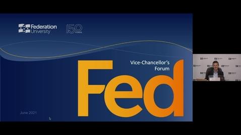 Thumbnail for entry Vice-Chancellor's Forum - June 2021