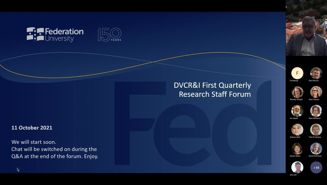 DVCR&I First Quarterly Research Staff Forum Video