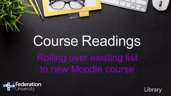 Rolling over existing list to new course