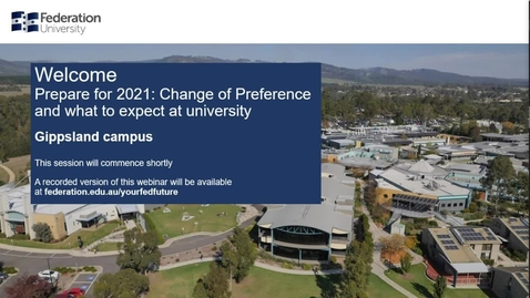 Thumbnail for entry Domestic webinar- Change of Preference 2021 Gippsland