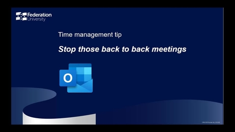Thumbnail for entry Time management tip - back to back meetings