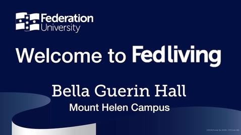 Thumbnail for entry Federation University Residence Tour, Bella Guerin Hall, Mount Helen Campus, Ballarat