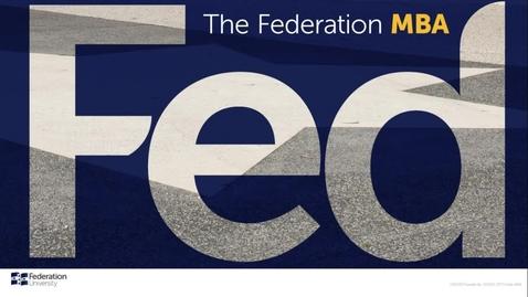 Thumbnail for entry FED MBA Info Session - Ballarat