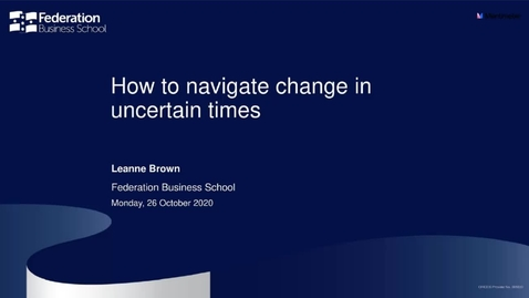 Thumbnail for entry Manager webinar - How to navigate change in uncertain times