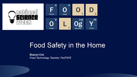 Thumbnail for entry FOODOLOgY Food Safety in the Home