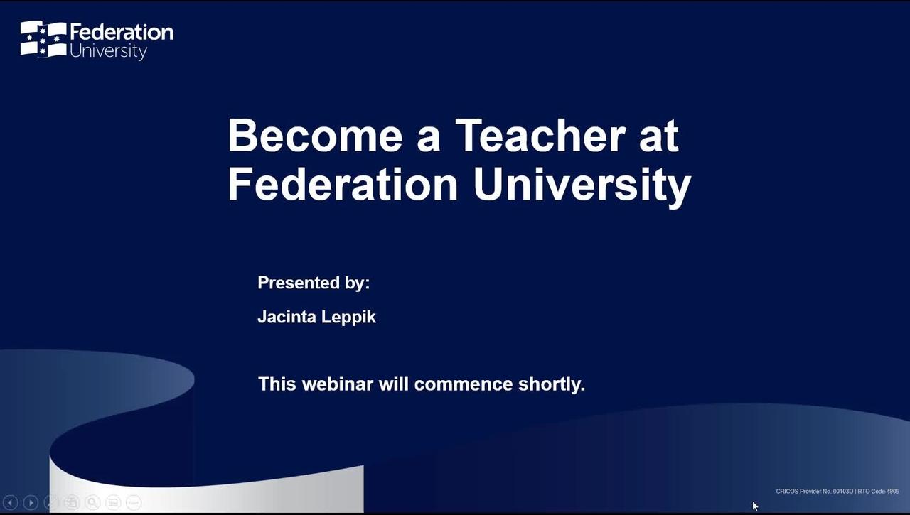 Become a Teacher Webinar July 2021 Video