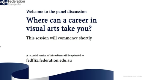 Thumbnail for entry Panel: Where can a career in visual arts take you?