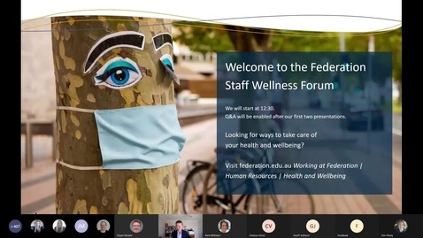Thumbnail for entry Federation Staff Wellness Forum