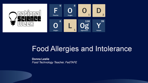 Thumbnail for entry FOODOLOgY Food Allergies and Intolerance