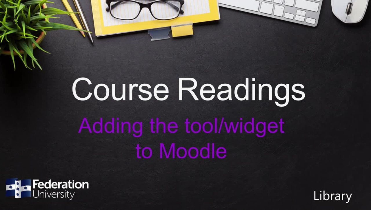 Adding Course Readings tool to Moodle