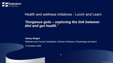 Thumbnail for entry Lunch and learn: Gorgeous guts – exploring the link between diet and gut health