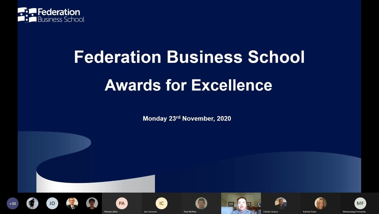 Federation Business School Awards for Excellence
