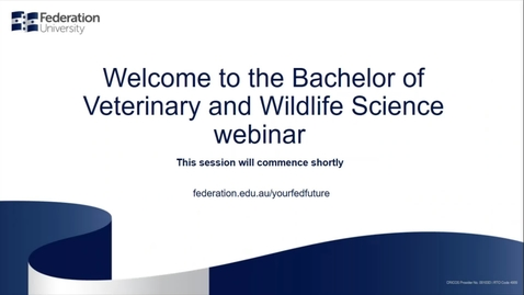 Thumbnail for entry Domestic Webinar Veterinary and Wildlife Science
