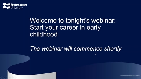 Thumbnail for entry Start your career in early education