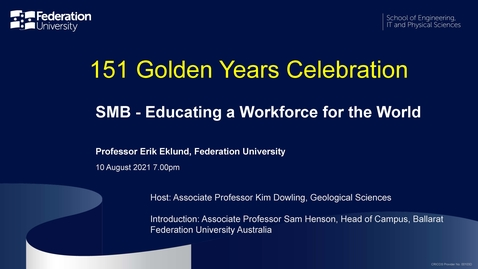 Thumbnail for entry 151 Golden Years Celebration - SMB - Educating a Workforce for the World
