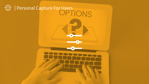 Thumbnail for entry How to Set the Recording Options in Kaltura Capture