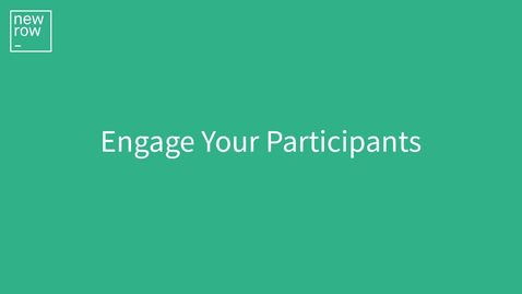 Thumbnail for entry How to Engage Your Meeting Participants