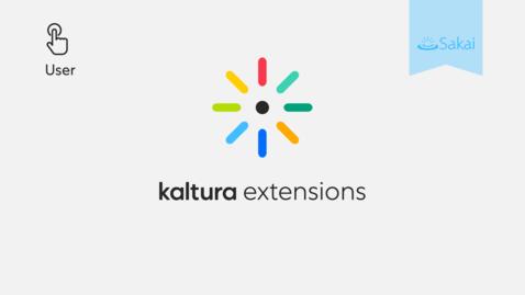 Thumbnail for entry Kaltura LMS Video Extensions Walkthrough