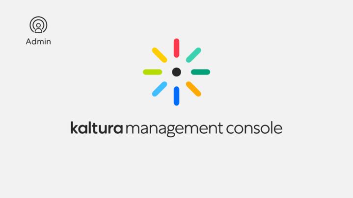 Thumbnail for channel Kaltura Management Console- Player Designer