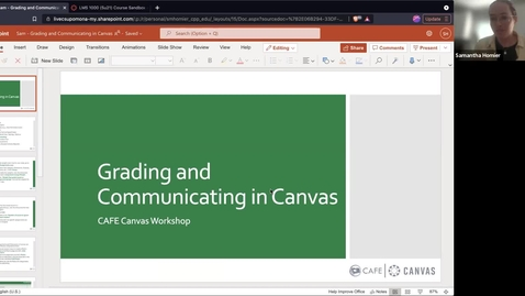 Thumbnail for entry Canvas Champion Workshops: Grading and Communication in Canvas by Sam Homier (Jorge Basilio series)