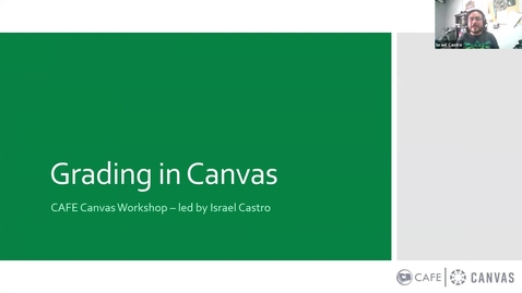 Thumbnail for entry Canvas Champions Workshops: Grading in Canvas by Israel Castro