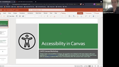 Thumbnail for entry Canvas Champion Workshop Series: Accessibility in Canvas by Samantha Homier