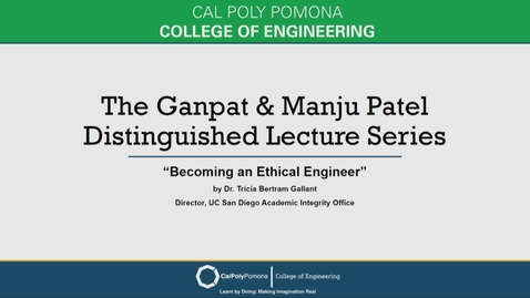 Thumbnail for entry Tricia Bertram Gallant - Ganpat & Manju Patel Distinguished Lecture Series