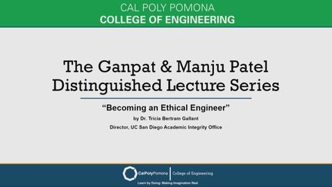 Thumbnail for entry Tricia Bertram Gallant - Ganpat & Manju Patel Distinguished Lecture Series
