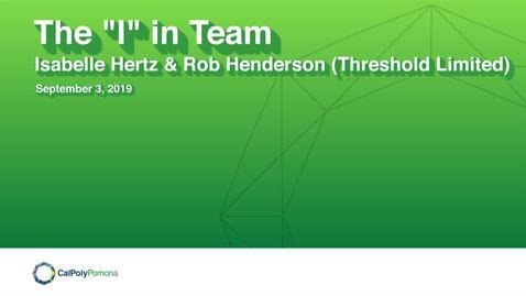 Thumbnail for entry CPP Speaker Series: Isabelle Hertz and Rob Henderson