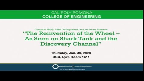 "Thumbnail for entry Zack Fleishman & David Patrick ""The Reinvention of the Wheel"" - Ganpat & Manju Patel Distinguished Lecture Series"