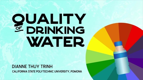 Thumbnail for entry Quality of Drinking Water