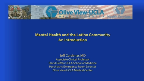 Thumbnail for entry Demystifying Mental Health in Latina/o Communities / Moderated by Dr. Alvaro Huerta