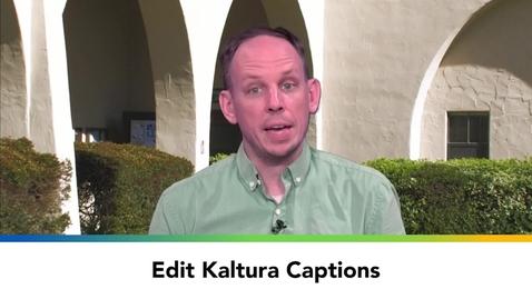 Thumbnail for entry Edit Kaltura Captions