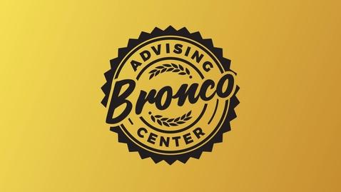 Thumbnail for entry Bronco Advising Center
