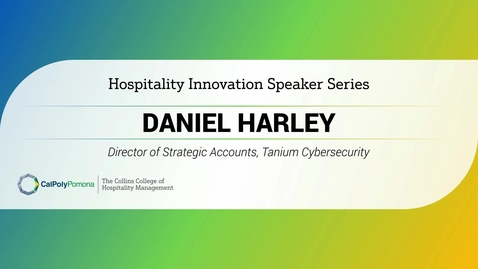 Thumbnail for entry Daniel Harley - Director of Strategic Accounts, Tanium Cybersecurity