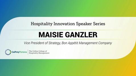Thumbnail for entry Maisie Ganzler - VP of Strategy, Bon Appétit Management Company