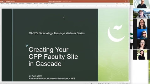Thumbnail for entry Technology Tuesday: Cascade Faculty Sites, Apr-27, 2021
