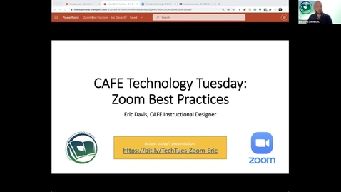 Thumbnail for entry CAFE Technology Tuesday: Zoom Best Practices (Feb 2, 2021)