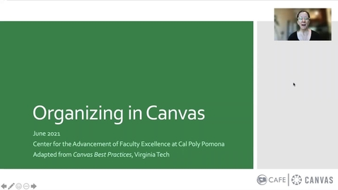 Thumbnail for entry Best practices for organizing in Canvas